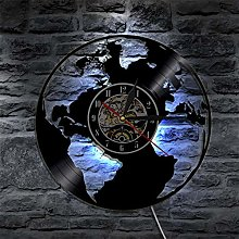 IANGL Enregistrer la Terre Carte du Monde Horloge