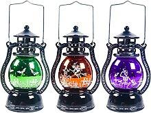 ibasenice 3Pcs Halloween Globe De Neige Lanterne