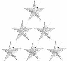ibasenice 6Pcs Papier Étoiles Abat- Jour Évider