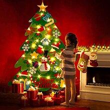 Ibello Arbre de Noël Lumineux 50LED Sapin en
