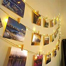 Ibello Guirlande lumineuse 100 LED 10 m 20 clous