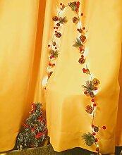 Ibello Guirlande Lumineuse 20LEDs 2M Pommes de Pin