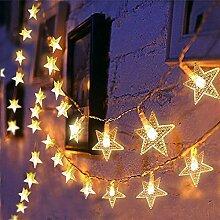 Ibello Guirlande Lumineuse Étoile 2,85M 20LEDs