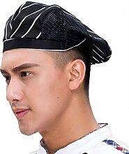 IBLUELOVER Chapeau de Chef Bonnet de Cuisine en