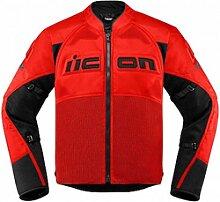 Icon Contra 2 veste textile male    - Rouge/Noir -