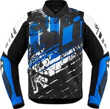 Icon Overlord Stim, veste textile - Bleu - 4XL