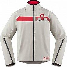 Icon Tarmac 2 veste textile male    - Gris/Rouge -