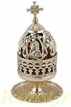 IconsGr Lampe a Huile de Table en Bronze, culte