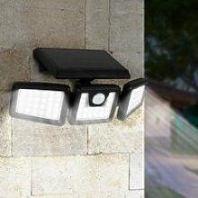 ID MARKET - Projecteur solaire 3 têtes 70 LED