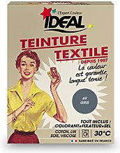 Ideal TEINTURE TEXTILE MACHINE GRIS 350GR FIXATEUR