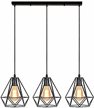 iDEGU 3 Lampes Suspension Luminaire Industrielle