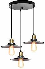 iDEGU 3 Lampes Suspension Luminaire Vintage