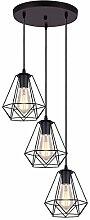 iDEGU 3 Lampes Suspension Vintage Lustre