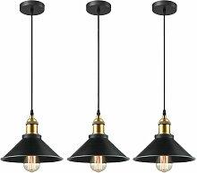 iDEGU 3x Retro Suspension Luminaire Industriel