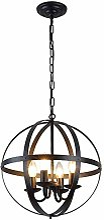iDEGU 4 Lampes Lustre de Bougeoir Industrielle