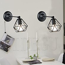 iDEGU Applique Murale Industrielle, Lot de 2 Lampe