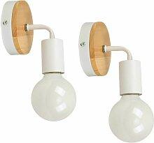 iDEGU Lot de 2 Applique Murale Interieur Lampes