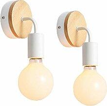 iDEGU Lot de 2 Appliques Murale Interieur Lampes