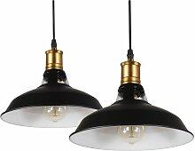 iDEGU lot de 2 Suspension Luminaire Industrielle