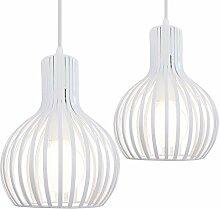 iDEGU Lot de 2 Suspension Luminaire Moderne,