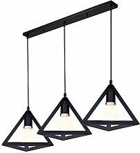 iDEGU Lustre Industriel, 3 Lampes Suspension