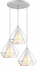 iDEGU Lustre Suspension en Forme Diamant 3 Lamps