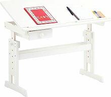 Idimex - Bureau enfant écolier junior FLEXI table