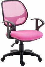 IDIMEX Chaise de bureau pour enfant COOL, rose