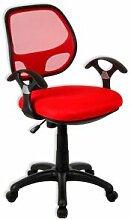 IDIMEX Chaise de bureau pour enfant COOL, rouge