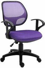 IDIMEX Chaise de bureau pour enfant COOL, violet