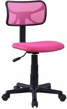 IDIMEX Chaise de bureau pour enfant MILAN, rose