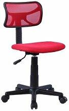 IDIMEX Chaise de bureau pour enfant MILAN, rouge