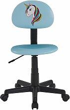Idimex - Chaise de bureau pour enfant UNICORN