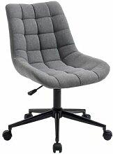 IDIMEX Chaise de bureau TALIA, en tissu gris