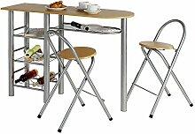IDIMEX Ensemble Style avec Table Haute de Bar