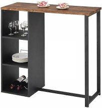 IDIMEX Table haute de bar PIAVA, décor chêne
