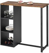 IDIMEX Table Haute de Bar PIAVA Mange-Debout