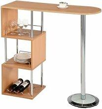 IDIMEX Table haute de bar VIGANDO, couleur hêtre