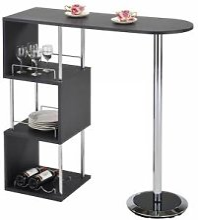 IDIMEX Table haute de bar VIGANDO, gris mat