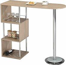 IDIMEX Table Haute de Bar VIGANDO Mange-Debout