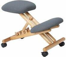 IDIMEX Tabouret ergonomique BORMIO, structure en