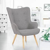 IDMarket Fauteuil design scandinave gris clair