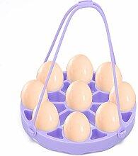iFCOW Moule à œufs portable en silicone 9 trous