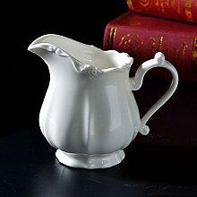 IFEVER Pichet à crémier en porcelaine blanche