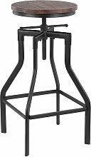 Ikayaa - Chaise de bar de style industriel retro