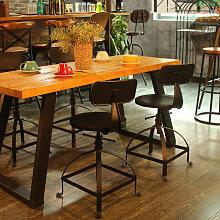 Ikayaa - Chaise de bar en fer de style industriel