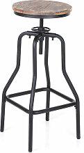 Ikayaa - Chaise de bar en pin de style retro