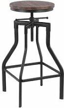 iKayaa Tabouret de Bar Vintage Chaise Plateau en