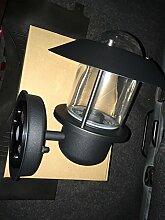 Ikea Applique extérieure Noire UPPLID 20 cm