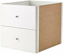 Ikea Kallax Étagère avec porte 2 tiroirs Blanc